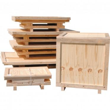 Caisse bois contreplaqué produit lourd non monté sur mesure